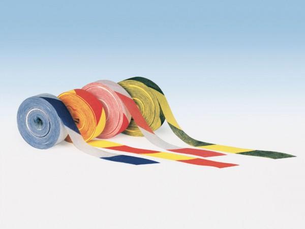 Markierungsband aus Zellstoff, zweifarbig