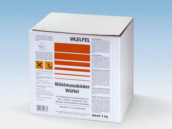 Wühlmausköder Wülfel 3 kg