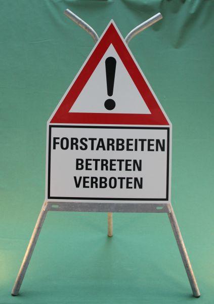 """Schild """"Forstarbeiten"""" Betreten verboten"""