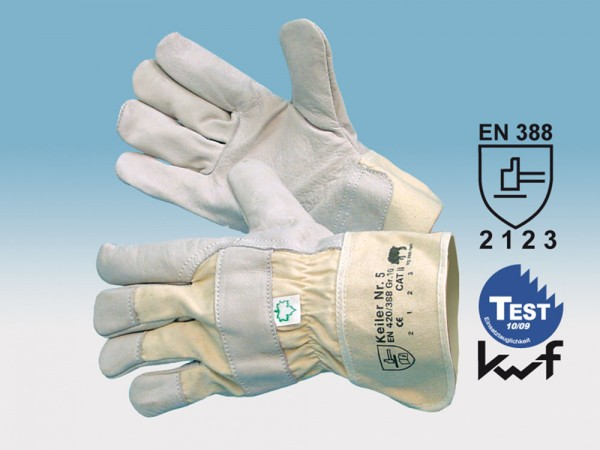 Keiler Nr. 5 Rindnarbenlederhandschuh